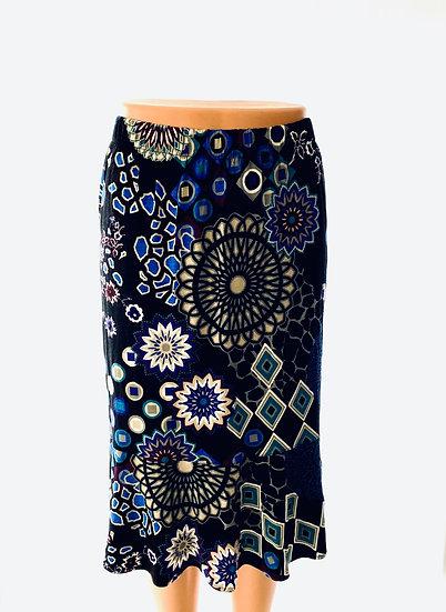 Black/Cobalt Geo Skirt Size-0