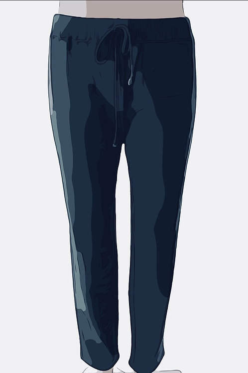Cotton Sweat Pants Size-3 Navy