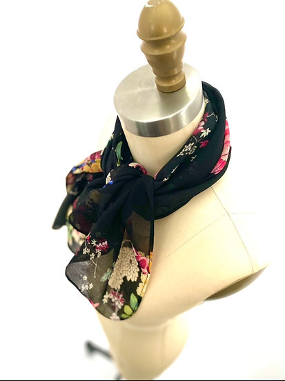 Scarf Pink Rose Black