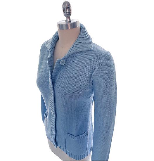 Textured Cardigan Powder Blue Size-3