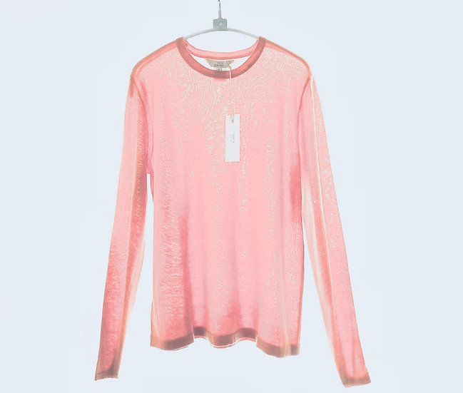 Silk/Cotton Crew Pink 0, 1, 2, 3