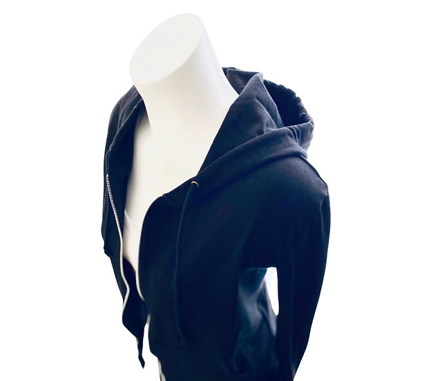Cropped Cotton Hoodie Black, Navy, Gray