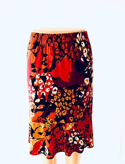 Red/Black Floral Skirt Size-1