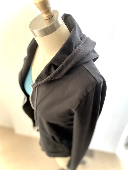 Cropped Hoodie Gray 0, 1, 2, 3