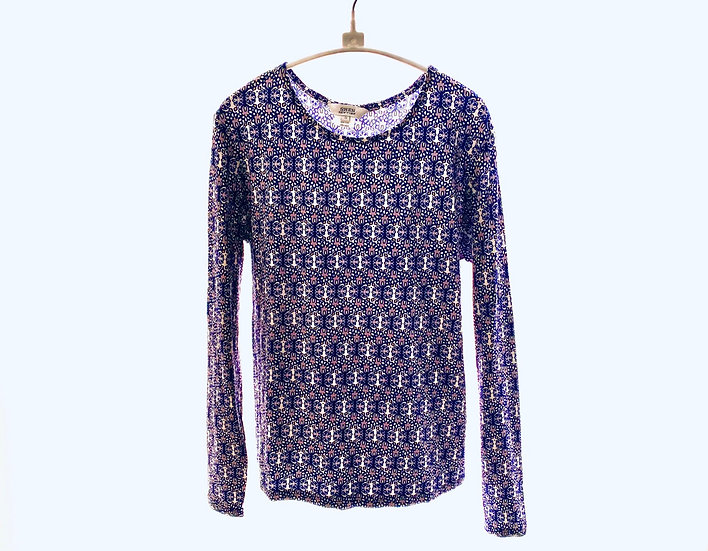 Navy/Mauve Geo Top 0, 2, 3