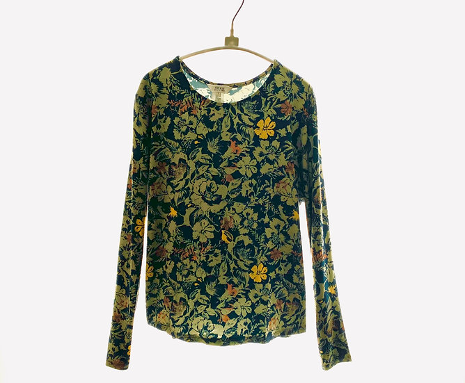 Green Floral Top Size 3