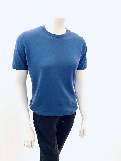 Silk/Cotton Fine Knit  S/S Easy Fit ( 7 Colors )