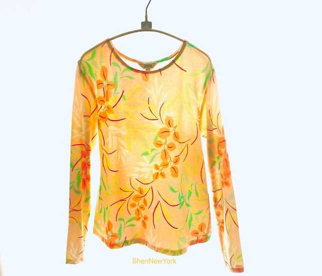 Peach/Yellow Print Top 1, 2