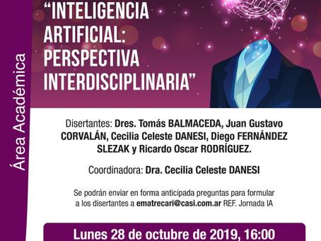 """Jornada: """"Inteligencia artificial: perspectiva interdisciplinaria"""""""