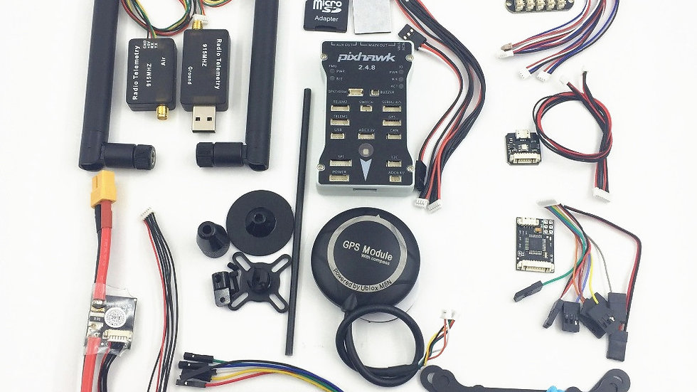 Pixhawk PX4 PIX 2.4.8 32 비로폰 + 433/915 테임 스 테 어 + M8N GPS + 더 큰 OSD + PM + PM +