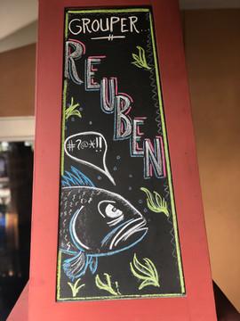 Grouper reuben