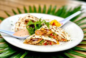island-style quesadilla with chicken (1)