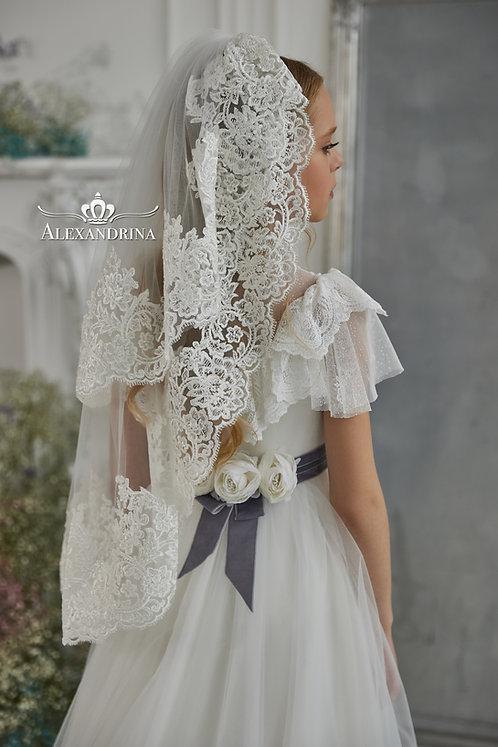 Veil Big White Flower
