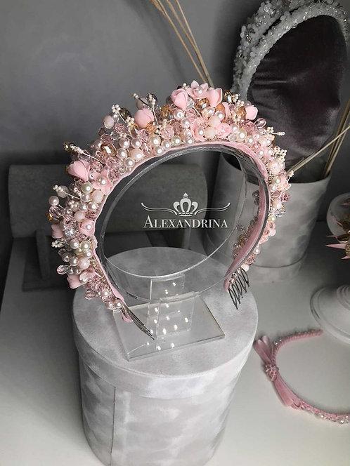 Tiara Pink Flowers Runa