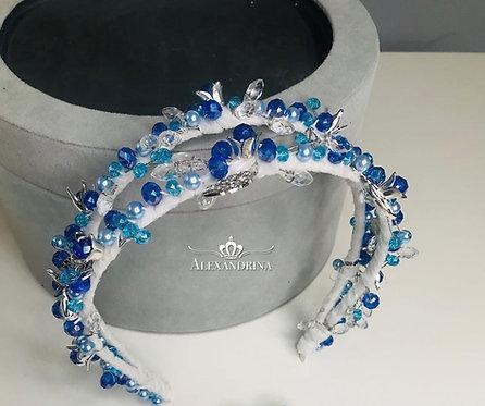 Headband Duble Blue&White