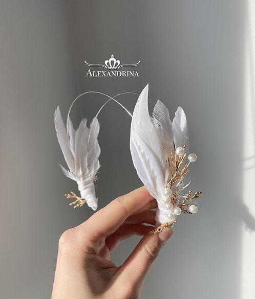 HeadBand Feather&Corl