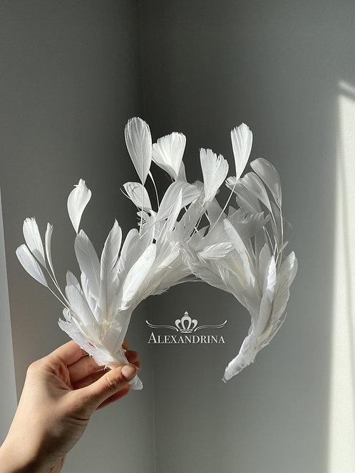 HeadBand White Swan