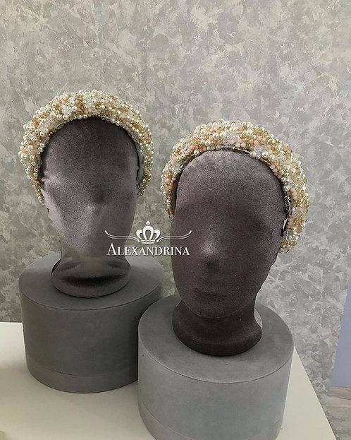 Headband Pearl Love