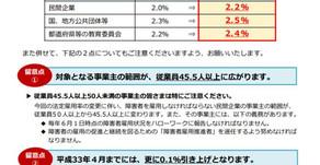 狛江市も障がい者法定雇用率でショートしてました