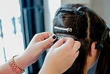 The hair extensions process sf