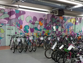 Our shop mural - the finished article