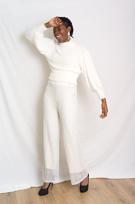 Savannah Miller wedding trousers