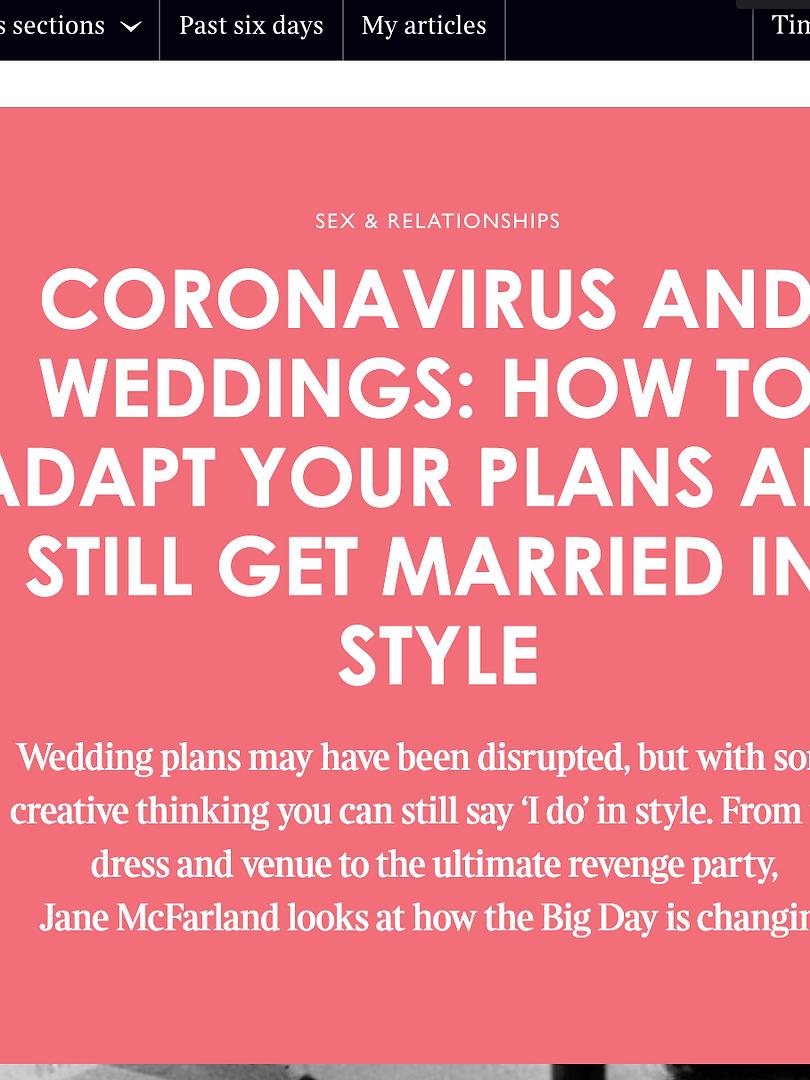 Corona Virus Wedding Advice