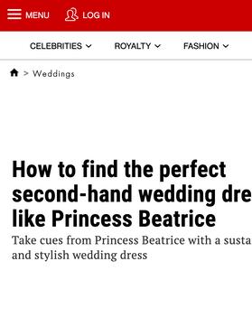Second hand wedding dress