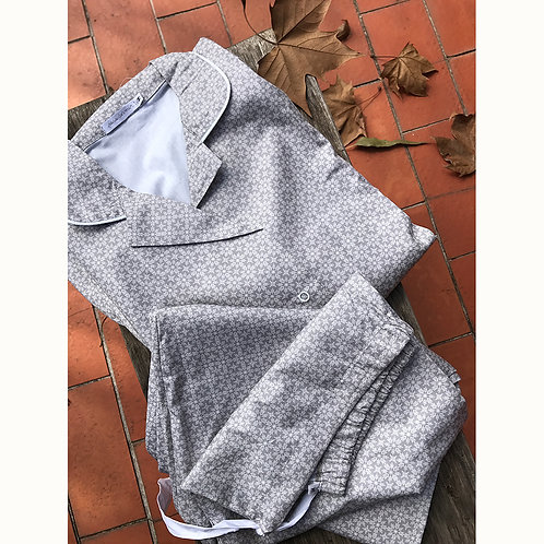 Pijama longo de algodão para mamãe