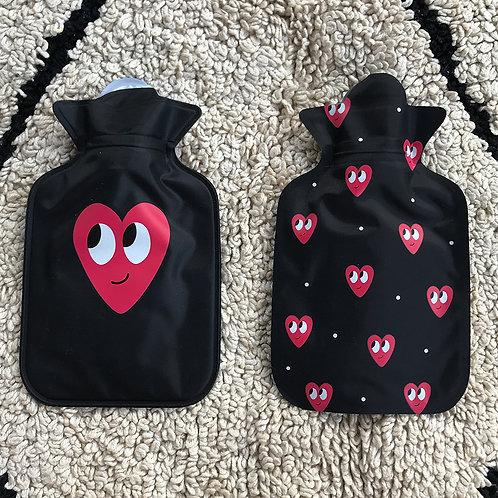 Mini bolsa térmica preta coleção coração