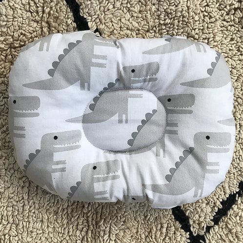 Almofada de braço para apoio do bebê na amamentação dino