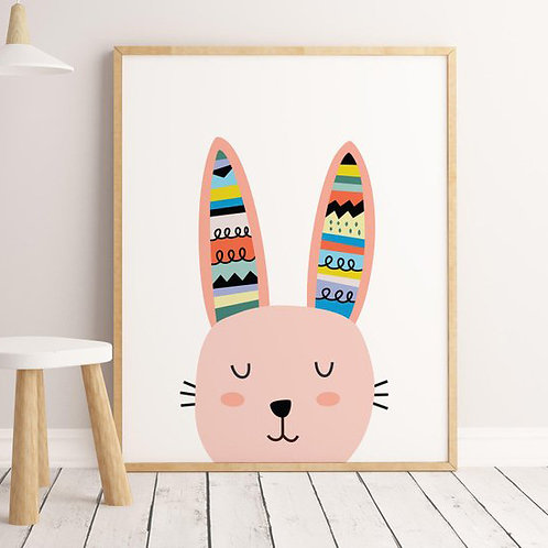 Pôster coelho colorido