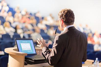 Männlicher Redner