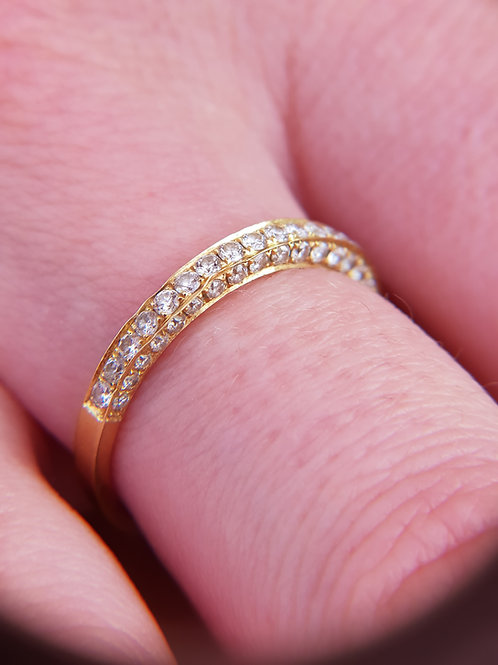 18k YellowGold Diamond Ring