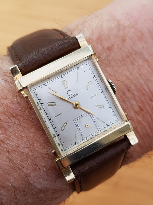 1945 Omega 14k Gold Wrist Watch