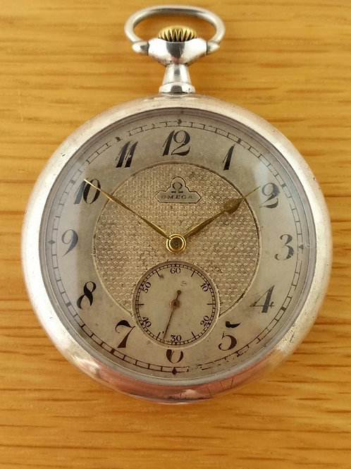 1914c Omega Antique Silver Pocket Watch