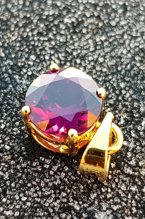 "1.19ct Rhodolite Garnet ""Sarvaal Grappe"" Pendant set in 14k Gold"