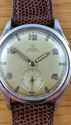Late 1940s Omega With Art Deco Dial