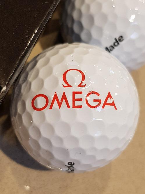 Set of Three Omega Branded Golf Balls