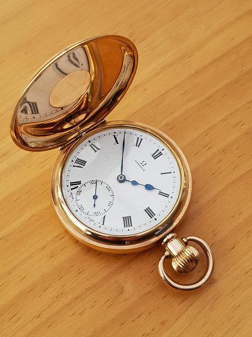 1920 Omega Half-Hunter Pocket Watch