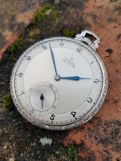 1938 Omega Art Deco Pocket Watch
