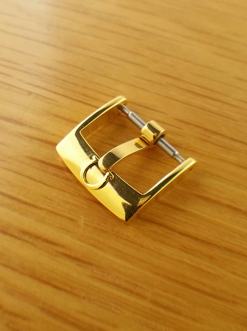 Omega Signed Gold Tone Buckle 14mm