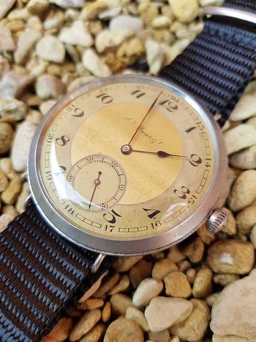 Early 1900s H Moser & Cie Wrist Watch Conversion.