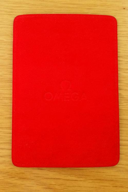 Omega Warranty / Card Holder Red
