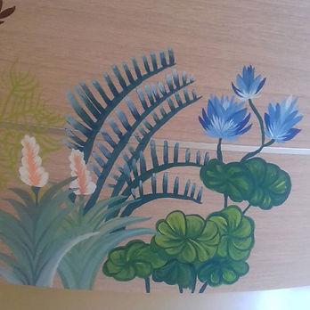 fresque murale décoration d'intérieur peinture illustration