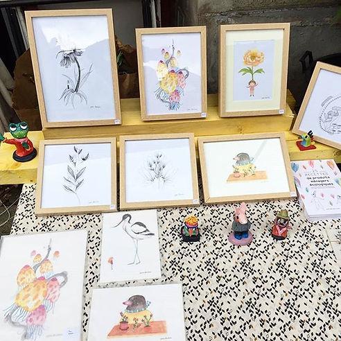 Marché des créateurs illsutrateur illustration handmade vente