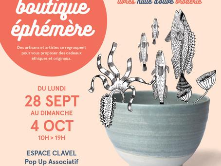 Nouvelles ventes ! Boutique éphémère à l'Espace Clavel fin septembre !