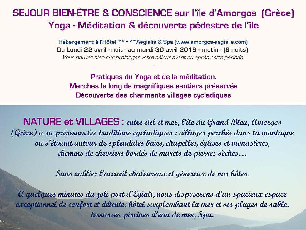 Stage yoga et découverte pédestr de l'Ile d'Amorgos