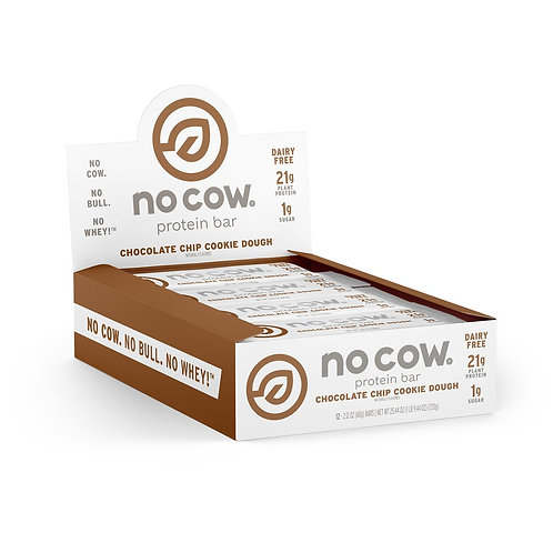 No Cow Chocolate Chip Cookie Dough Bar (Box of 12)