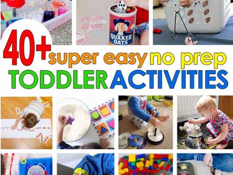 Super Easy Toddler Activities!